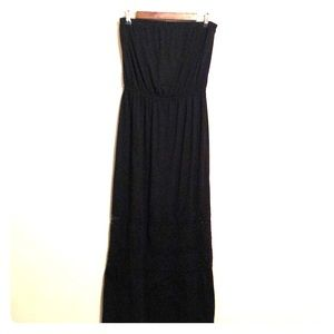 Xhilaration black strapless dress